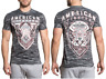 AMERICAN FIGHTER Mens T-Shirt LOCKPORT Athletic GREY CAMO Biker Gym MMA $40