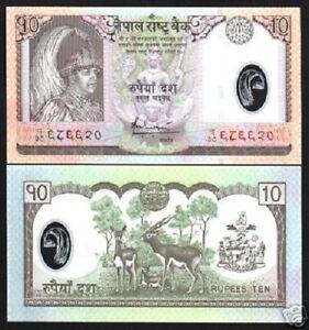NEPAL 10 RUPEES New 2005 *Replacement Prefix CH38 POLYMER UNC DEER COW BIRD NOTE