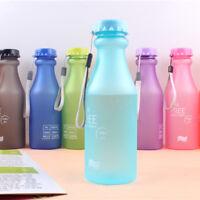 incassable courir glacé verre en plastique étanche eau en bouteille de sport