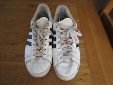 Adidas court star Mens trainers shoes white size 10