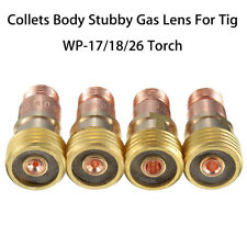 Brass Collets Body Stubby Gas Lens Connector With Mesh For Tig WP-17/18/26 Torch
