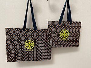 Tory Burch Logo Navy Durable Paper Shopping Bag, Gift Bag - Small, Medium - NEW