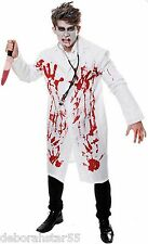 Adult Zombie Bloody Doctor Surgeon + Knife Halloween Horror Fancy Dress Costume