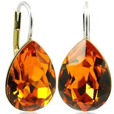 Ohrringe mit kristallen Von Swarovski orange Gold NOBEL schmuck