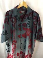 Pineapple Connection Shirt Mystic Origins Size Large Hawaiian Aloha Dragon A49