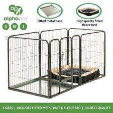 Alphapet ® 6 Panel Perro Cachorro de parto Jaula Corralito valla Inc Base & Polar Cama