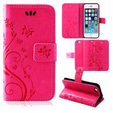 Klapptasche Bookcase Handy hülle Case Etui TPU Flower Wallet ZTE Blade V7 Pink