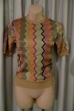 VINTAGE 70'S  ~  TWEEDAKNIT ~ Chevron Stripes JUMPER * Size XXS *