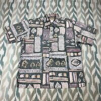 Cooke Street Honolulu Men's Hawaiian Button Front Short Sleeve Shirt Size Large