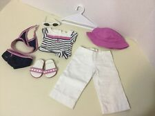 Authentic American Girl Clothes 2010 Boatdeck Sailor Pants Beach Outfit Lot 9pcs