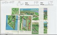 1985 Canada #1050-59 Θ used VF Full set of Canadian Forts cds cancel Nanoose BC