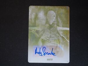 2018 Topps Star Wars Galaxy Andrew Secombe Watto AUTO Yellow Printing Plate #1/1
