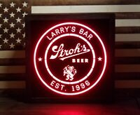 Custom Strohs Beer. LED Sign Personalized, Home bar pub Sign, Lighted Sign