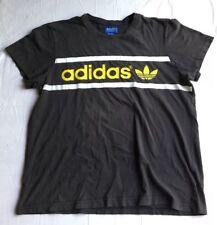 Vintage 80s Adidas Black Yellow T Shirt Size XL