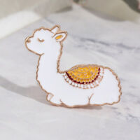 Gift Alpaca Sheep Brooches Animal Enamel Badges Lama Glama Baby Llama Pins BIN