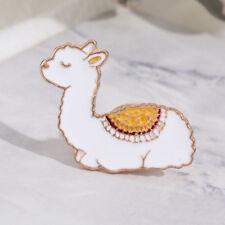 Gift Alpaca Sheep Brooches Animal Enamel Badges Lama Glama Baby Llama Pins
