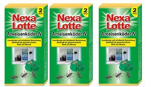 6 Stück Nexa Lotte Ameisenköder, Ameisen-Falle, Köderdose