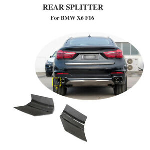 Fit For BMW X6 F16 2015-2018 Rear Bumper Splitters Apron Flaps Carbon Fiber