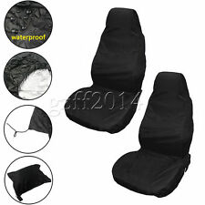 2PCS Front Universal Waterproof Nylon Auto Car Van Vehicle Seat Cover Protector