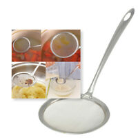 Handle  Mesh Strainer Oil Filter Scoop Colander Spoon Stainless Steel