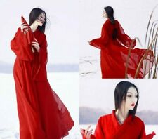 Women Dress Hanfu Clothing Ancient Costume Han Chinese Dress Red Dance Cosplay