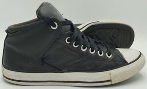 Converse Chuck Taylor All Star Mid Leather Trainers 149426C Black UK7/US7/EU40