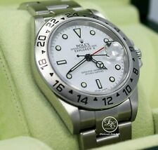 Rolex Explorer II 16570 GMT Oyster Date White Dial BOX/PAPERS *MINT CONDITION*