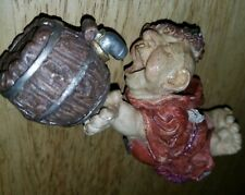 Friar Tuck Monk Painted Ceramic Wine Bottle Stopper Excellent Condition Collect