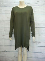 Long Top Ladies Size 10 Green Long Sleeved Womens Jumper Tunic