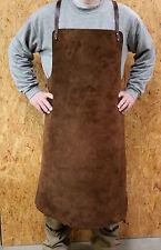 Kräftige echt Leder Schweißerschürze, Schmiedeschürze, Schutzschürze, 80x100 cm