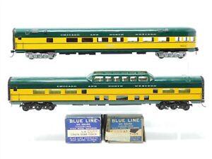 HO Scale LOT of 2 Blue Line Brass C&NW Chicago Northwestern Passenger Car