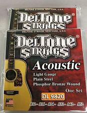 2 Sets Deltone Acoustic Guitar Strings 12-52  Dos Juego De Cuerdas Para Guitarra