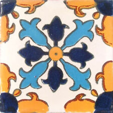 #C004) Mexican Tile sample Ceramic Handmade 4x4 inch, GET MANY AS YOU NEED !!