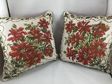 Poinsettia Christmas Throw Pillows Home Decor Holidays Christmas Cushions
