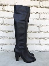 EUC Colin Stuart Butter Soft Black Leather Over The Knee Slouchy Boots US 9 M