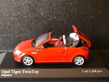 OPEL TIGRA TWINTOP 2004 1.6 MAGMAROT MINICHAMPS 400043131 1/43 ROSSO RED ROUGE