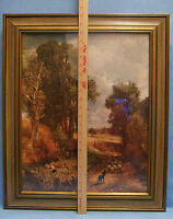 The Cornfield Reproduction Print Framed Under Glass by John Constable Vintage