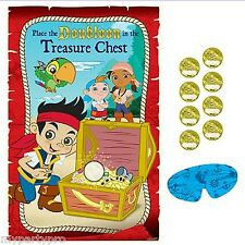 JAKE AND THE NEVER LAND PIRATES party supplies (PARTY GAME) FREE SHIPPING