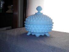 Light Blue Fenton Hobnail cover dish