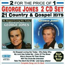 "GEORGE JONES, 2 CD SET ""21 COUNTRY & GOSPEL HITS"" NEW SEALED"