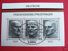 Block  11  ESST Bonn , BRD 1975,  Friedensnobelpreis