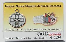*@ Carta ALB./AZ. ISTITUTO SUORE MAESTRE DI SANTA DOROTEA - € 2,50 - NUOVA @*