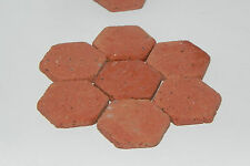 Dollhouse Miniature Floor Tiles Real Brick Material 65 Pieces Hexagonal Italian