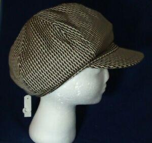 Ladies flat cap peak hat Peaky Blinders country Gatsby brown fashion NEW