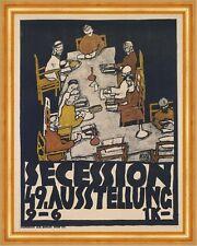 Secession 49. Exhibition Egon Schiele Ausstellung Plakat Tisch Stühle B A3 01635