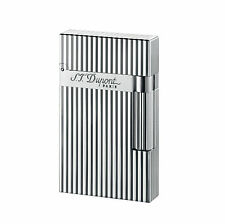S.T. DUPONT ACCENDINO LIGHTER LINEA 2 SILVER LINEE VERTICALI 016817 FRANCE