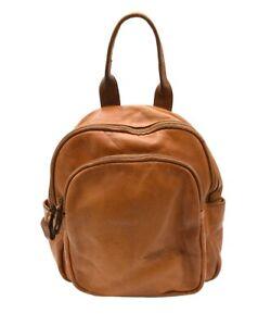 BZNA Bag Pat cognac Backpacker Designer Rucksack Damenhandtasche Schultertasche