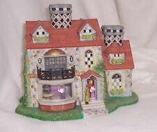 PartyLite Bristol House Olde World Village Hand Painted Bisque Porcelain Retired