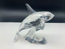 Swarovski Figurine 622939 Large Orca Whale 3 7/8in Top Zustand