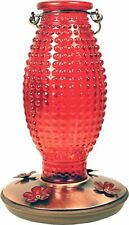 Perky-Pet 8130-2 Red Hobnail Vintage-Style Glass Hummingbird Nectar Feeder